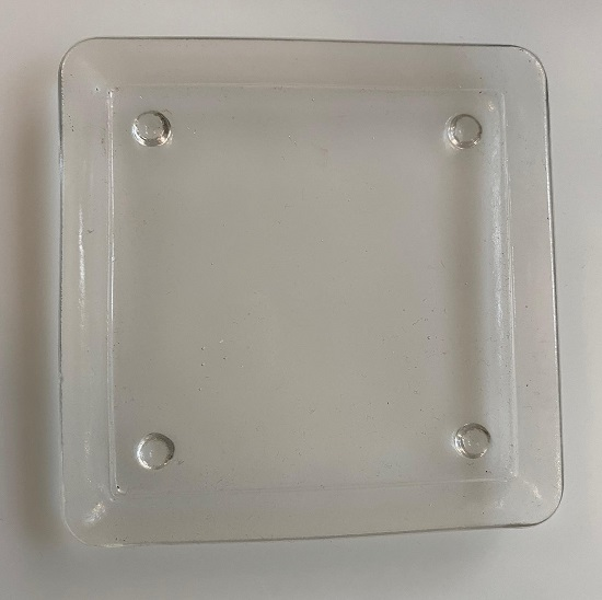 *Plate (clear glass plate) - New