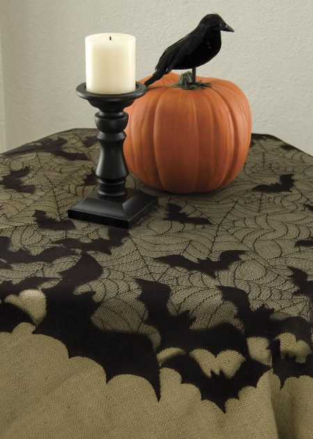 "Going Batty Round Table Topper (44"") 30% OFF! (5 LEFT)"