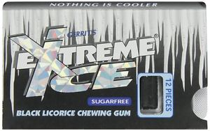 Gerrit's Extreme Ice Black Licorice gum (ONLY 3 LEFT)