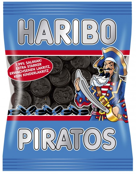 Haribo Germany Piratos Salty Licorice (Vegan) (OUT OF STOCK)