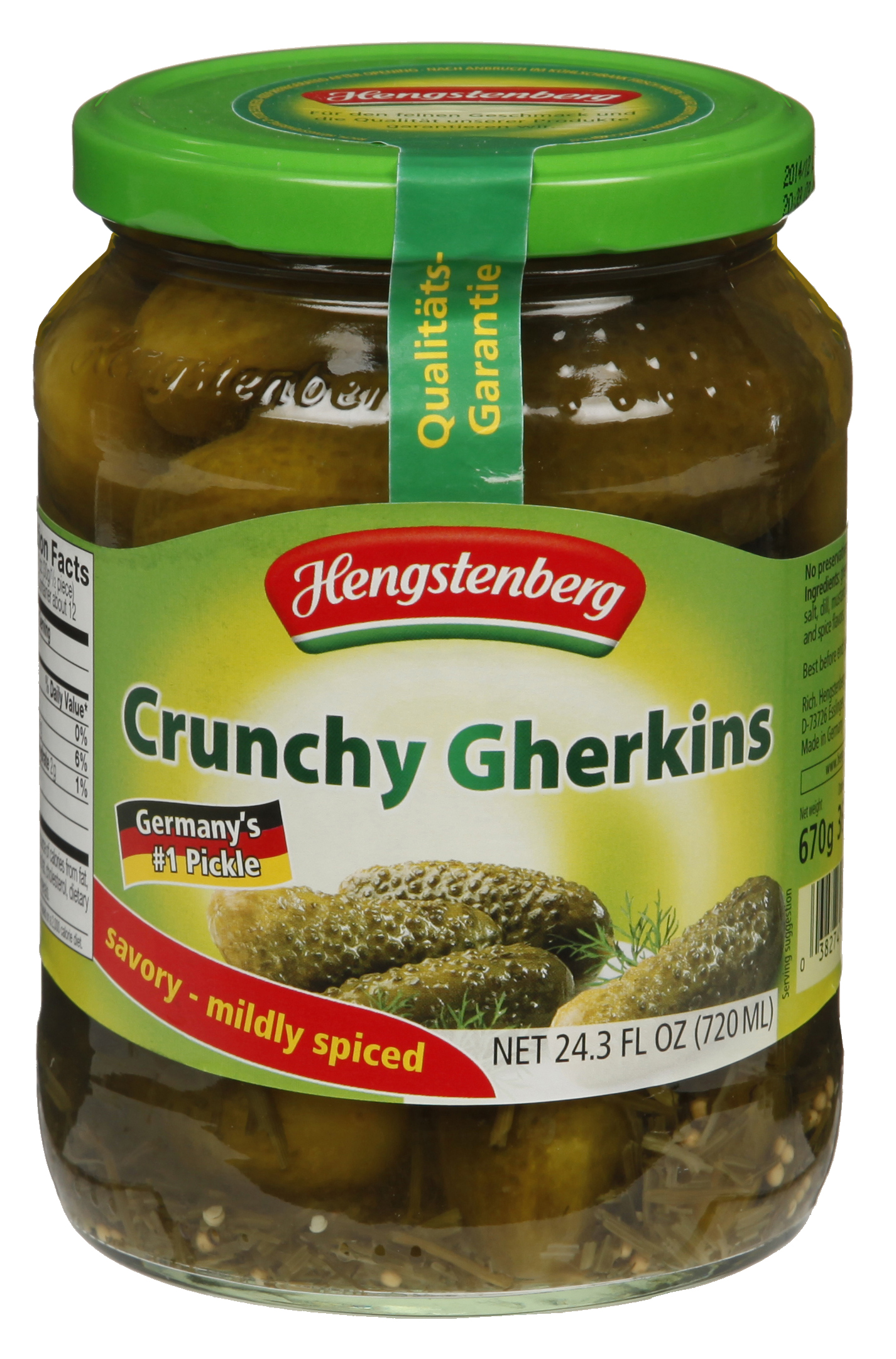 Hengstenberg Crunchy Gherkins (German Pickles)