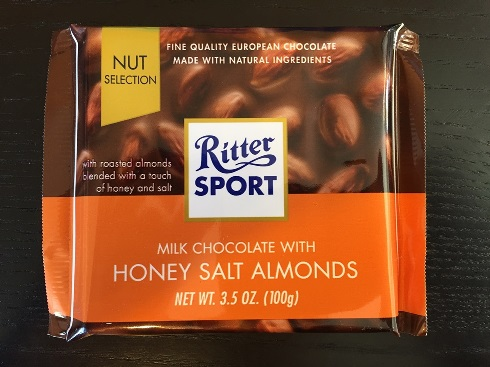 Ritter Sport Milk Choc w Honey Salted Almonds