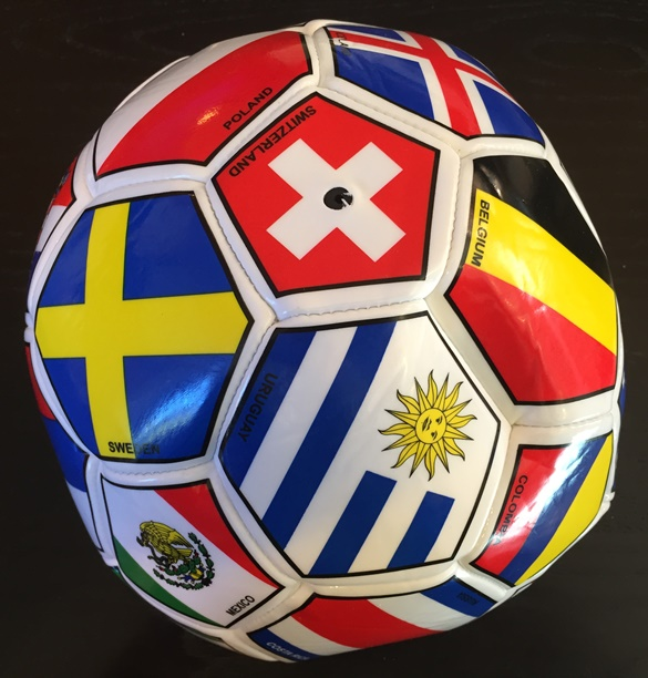 International Premium Soccer Ball (32 panels w country flags)