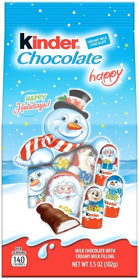*Kinder Happy Bag w Holiday Chocolate Figures