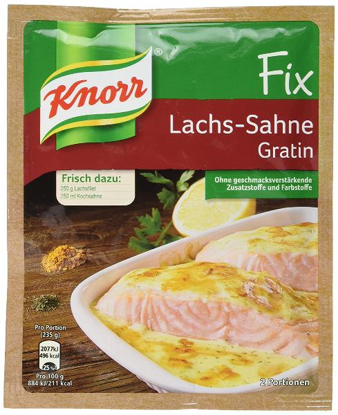 Knorr Fix Lachs-Sahne Gratin (creamy salmon)(SELL-BY AUGUST 2019