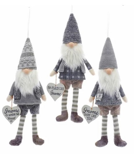 "Kurt Adler Fabric Gnome 15"" (price for 1 only)"