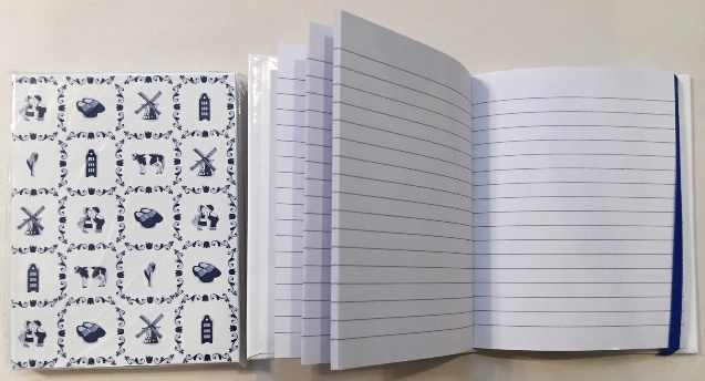 Dutch Blue/white notebook