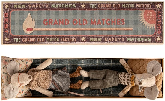 Maileg Grandpa & Grandma Mice in Matchbox (4 LEFT)