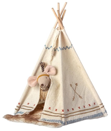 Maileg Little Feather w Tent, Little Sister Mouse (3 LEFT)