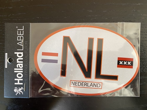NL Car Sticker (black/orange, white background)