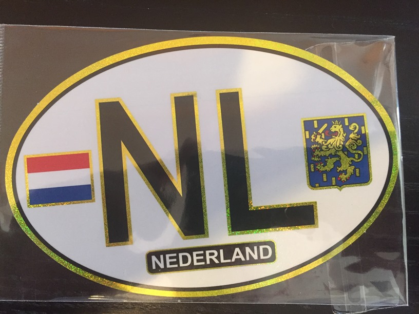 NL (Netherlands) Car Bumper Sticker