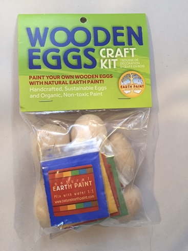 Natural Wooden Eggs Craft Kit (100% Safe/Nontoxic) (3 LEFT)