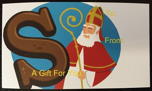 Note Card Sinterklaas - A Gift For You