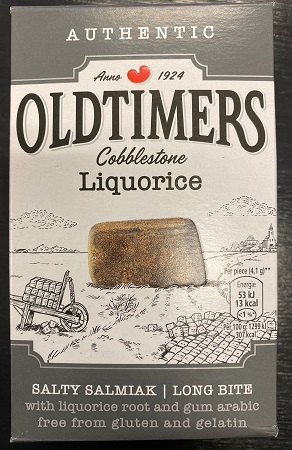 Oldtimers Salty Cobblestone Licorice (glutenfree)(Grey) (9 LEFT)