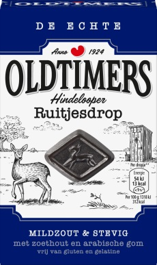 Oldtimers Hindelooper Ruitjesdrop (Salty,Blue box)(OUT OF STOCK)