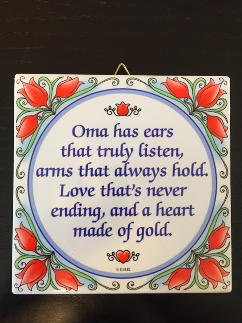 Oma heart of Gold wall plaque