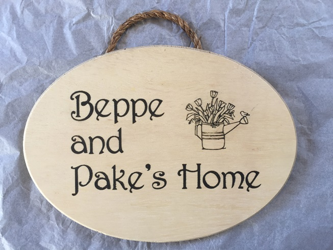 *Beppe & Pake's Home sign (OUT OF STOCK)