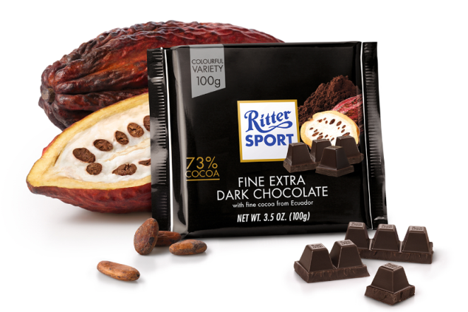 Ritter Sport 73% Extra Dark Chocolate
