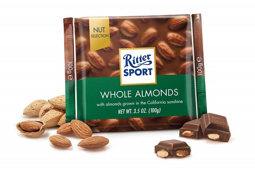 Ritter Sport Milk Choc Whole Almonds (OUT OF STOCK)