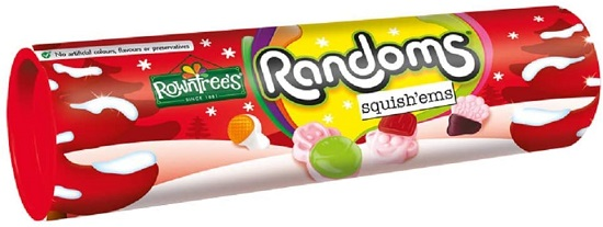 *Nestle Rowntrees Randoms Squish'ems Giant Tube (red)