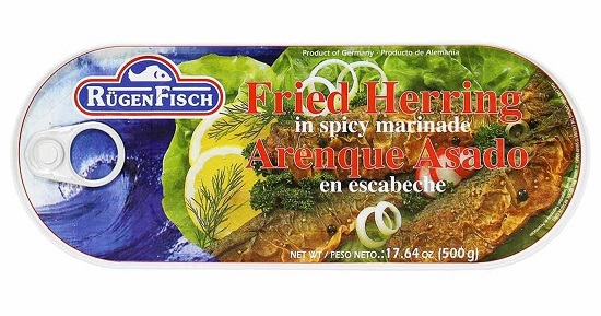 Rugenfisch Fried Herring in Spicy Marinade (tin)(7 LEFT)