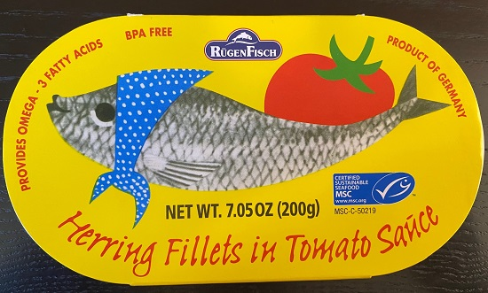 Rugenfisch Retro - Herring Fillets in Tomato Sauce (tin)