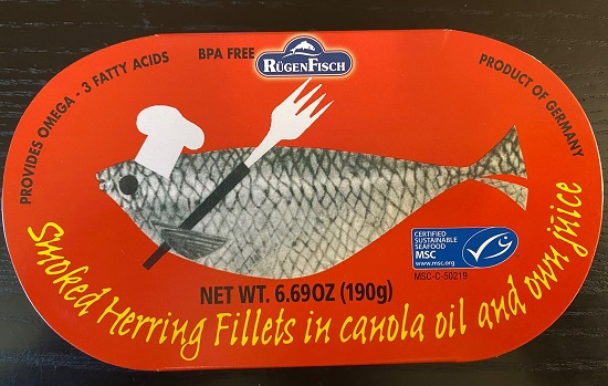 Rugenfisch Retro - Smoked Herring in Oil (tin)(9 Left)