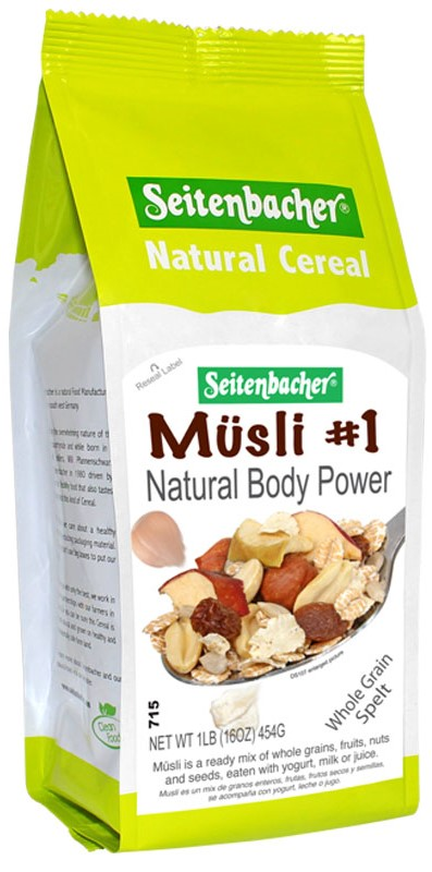 Seitenbacher Muesli Natural Body Power(3 LEFT)(SELL-BY AUG 1, 20