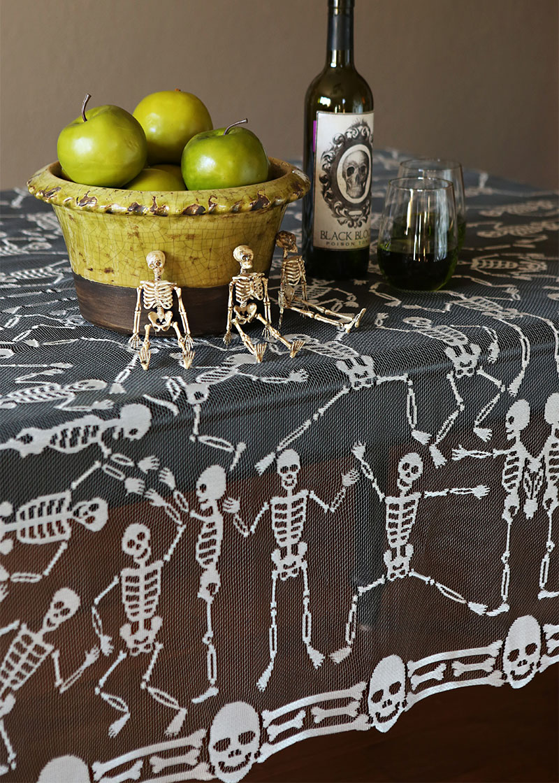 "Skeleton Dance Table Topper 58"" x 58"" 30% OFF! (2 LEFT)"