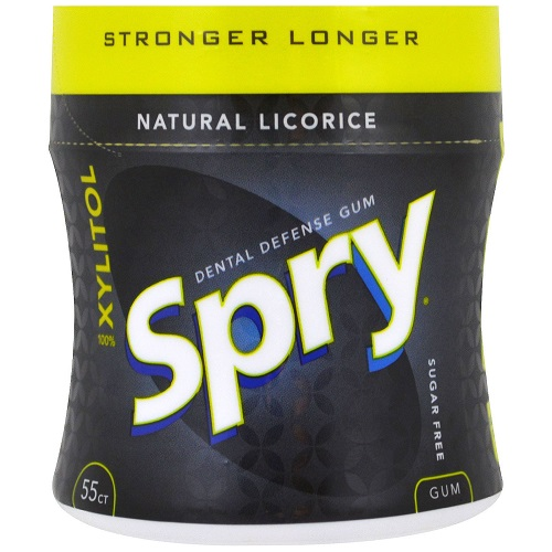 Spry Stronger Longer Natural Licorice Chewing Gum (ONLY 1 LEFT)