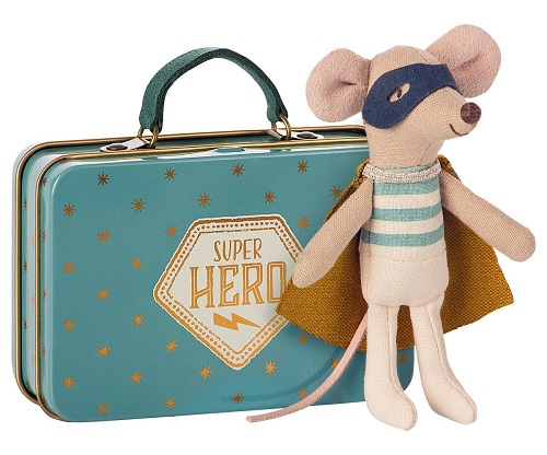 Maileg Superhero Mouse in Suitcase (6 LEFT)