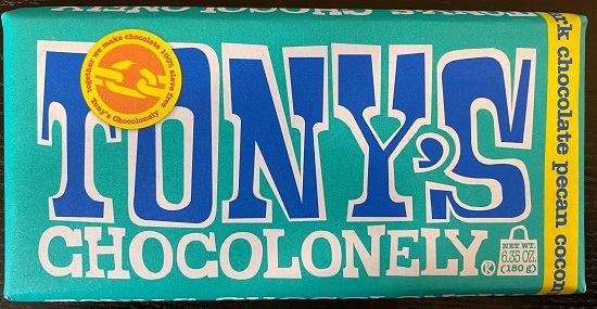 Tonys Chocolonely Dark Chocolate Pecan Coconut Bar (OUT OF STOCK