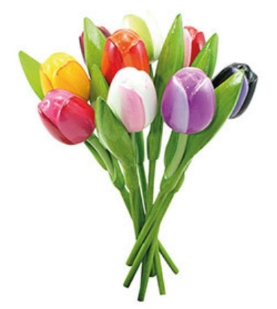 Tulip Bouquet with 9 Tulips 8in **