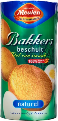 VanderMeulen Crispbakes Rusk Original (white) (green/blue) boxed