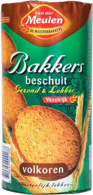 Van der Meulen Crispbakes Rusk Wheat (volkoren)(green/brown)