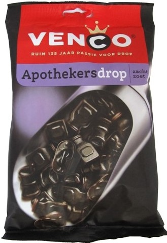 Venco Apothekers Drop bag (Soft Sweet Licorice) (1 LEFT)(SELL-BY