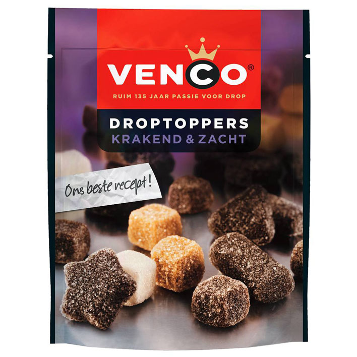 Venco Droptoppers Krakend & Zacht (SELL-BY JULY 2019)(3 LEFT)