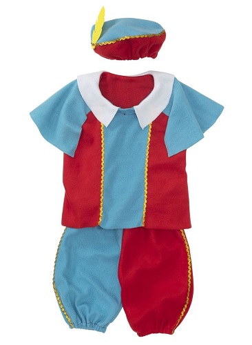 *Kids Outfit Piet (4-7 year old) blue / red (4 LEFT)