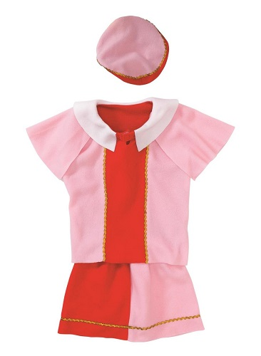 *Girls Outfit Piet (4-7 year old) pink / red  (2 LEFT)