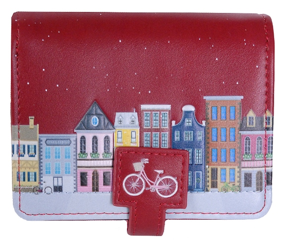 Wallet (small) Old Town Amsterdam - Red (ONLY 1 LEFT)