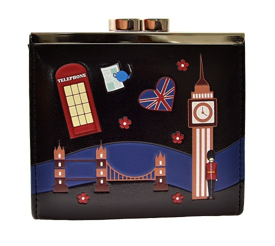 Wallet Coin Purse Streets of London - Black (ONLY 2 LEFT)