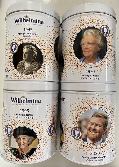 Wilhelmina Peppermints tin 75th Anniversary Liberation (7 LEFT)