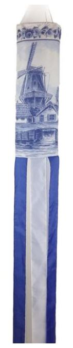 Wind Sock: Windmill Blue/White (4 LEFT)