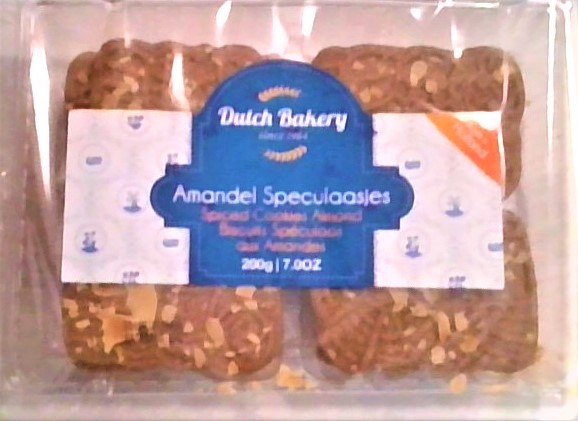 Dutch Bakery Amandel Speculaasjes (Almond Spiced Cookies)(6LEFT)