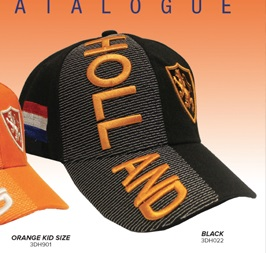 Holland Voetbal Cap / Hat Black
