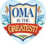 "3"" Magnet Tile: ""Oma is the Greatest"" (10 LEFT)"