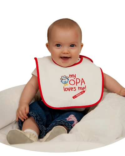 Baby Bib: My Opa Loves Me!