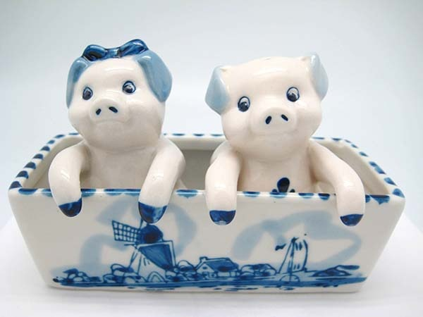 Pigs in Trough Salt & Pepper Shakers LIMITED STOCK