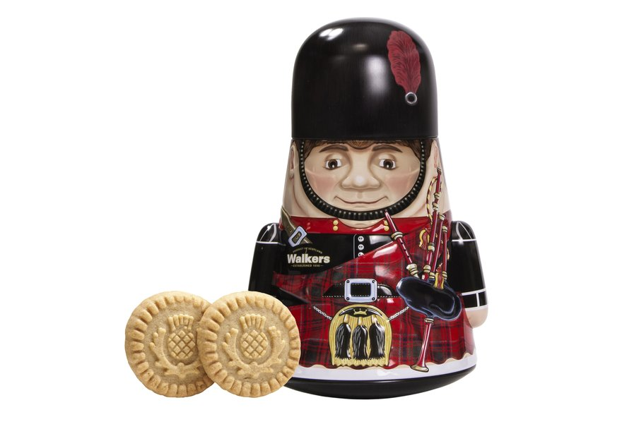 *Walkers Wobbly Piper Tin w. shortbread rounds