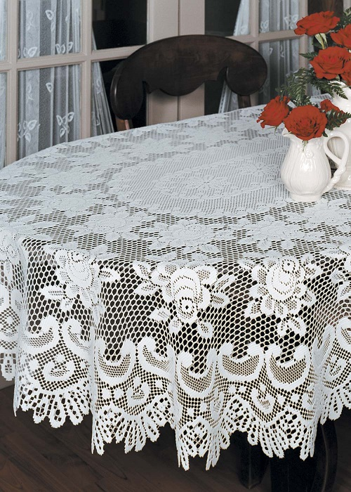 Rose Oval Tablecloths